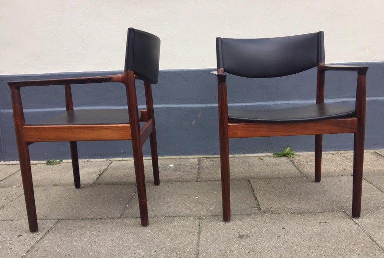 Mid-Century Modern Danish Midcentury Rosewood Armchairs 'Erika' by Erik Wørts, Vamo, 1960s For Sale