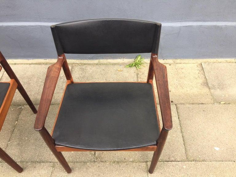 Mid-20th Century Danish Midcentury Rosewood Armchairs 'Erika' by Erik Wørts, Vamo, 1960s For Sale