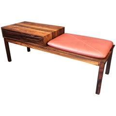 Danish Midcentury Rosewood Bench and Drawer Unit, Lowboy, Vodder
