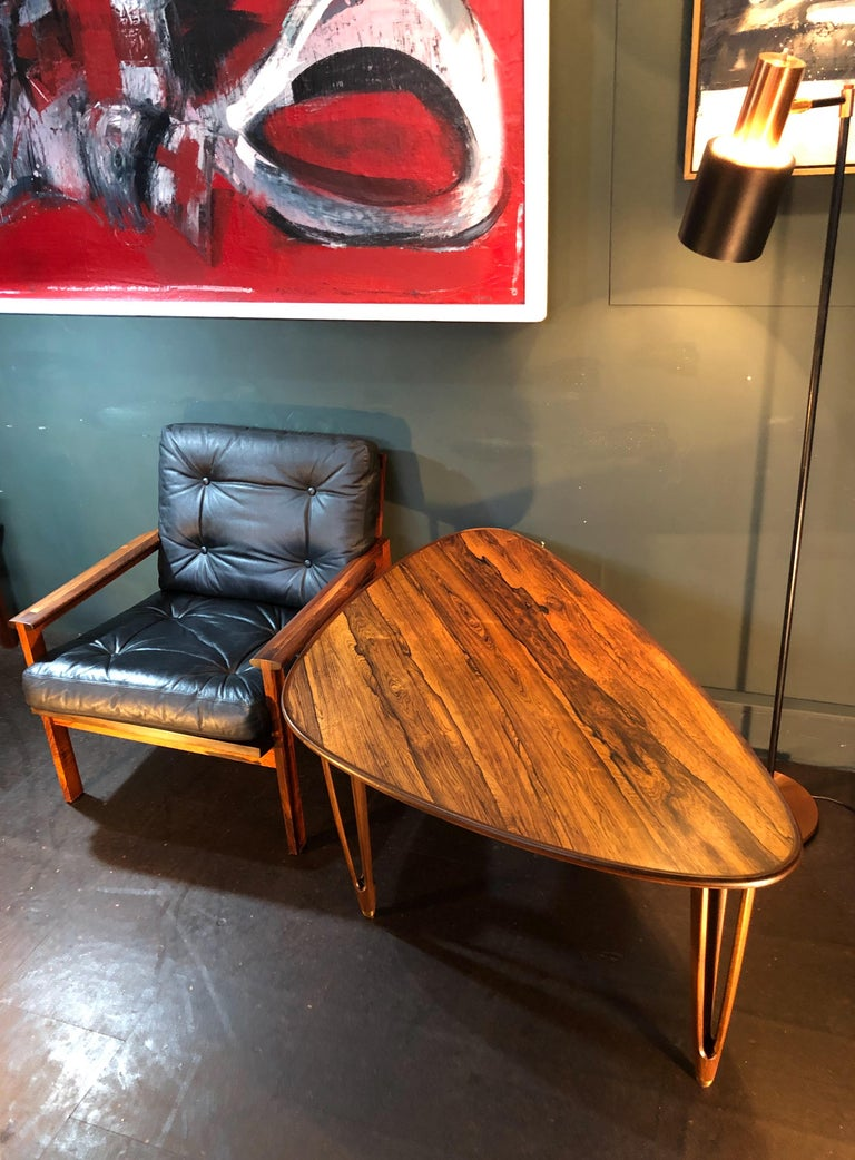 BC Mobler, Danish Midcentury Rosewood Coffee Table For Sale 4