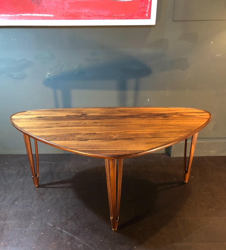 BC Mobler, Danish Midcentury Rosewood Coffee Table For Sale 7
