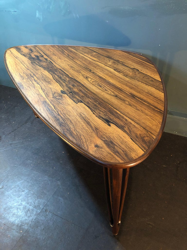 BC Mobler, Danish Midcentury Rosewood Coffee Table For Sale 8