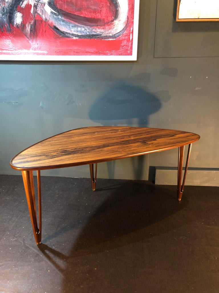 Mid-Century Modern BC Mobler, Danish Midcentury Rosewood Coffee Table For Sale