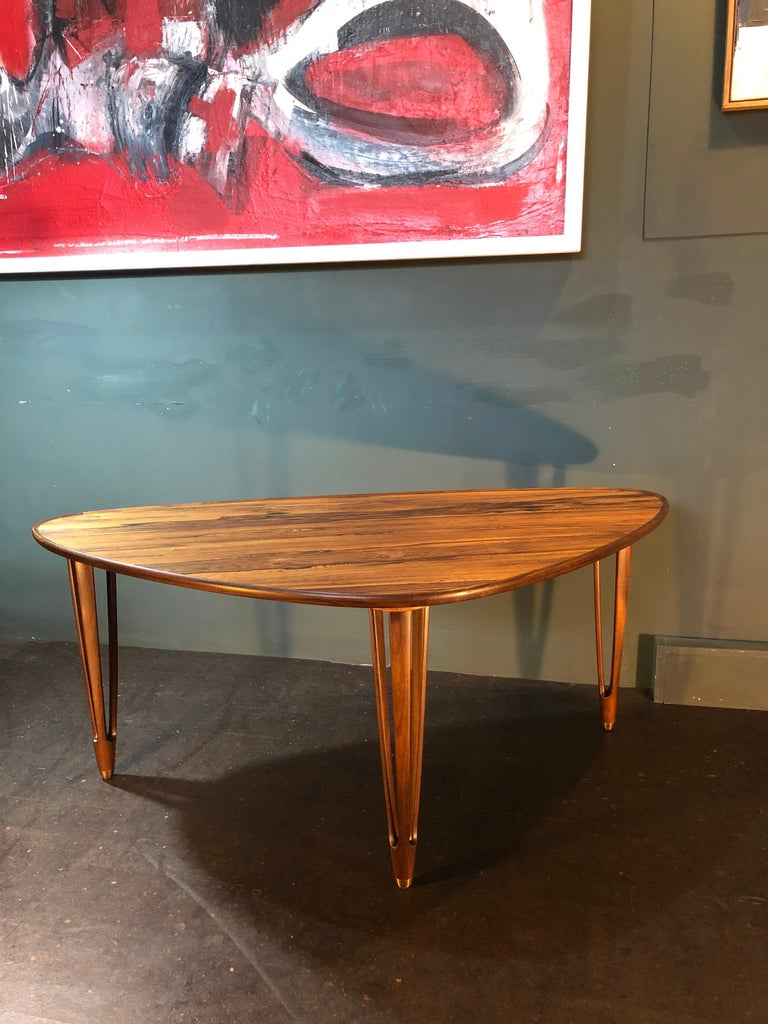 BC Mobler, Danish Midcentury Rosewood Coffee Table For Sale 1