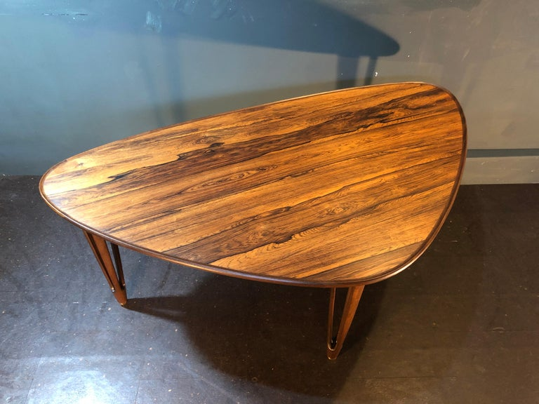 BC Mobler, Danish Midcentury Rosewood Coffee Table For Sale 2