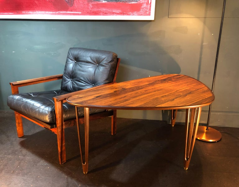 BC Mobler, Danish Midcentury Rosewood Coffee Table For Sale 3