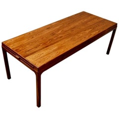 Danish Midcentury Rosewood Coffee Table with Hidden Extensions, circa 1960