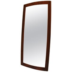 Danish Midcentury Rosewood Mirror
