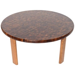 Danish Midcentury Rosewood Parquetry Coffee Table