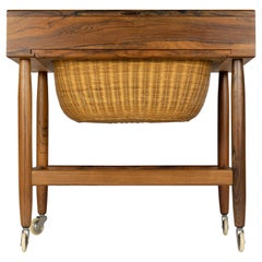 Danish Midcentury Rosewood Sewing Table by Ejvind Johansson, 1960s