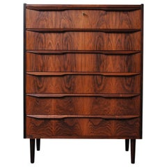 Danish Midcentury Rosewood Tallboy, Chest of Drawers