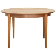 Danish Midcentury Round to Oval Dining Table by Gudme Mobelfabrik, circa 1960s