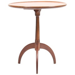 Danish Midcentury Side Table, Solid Mahogany by Cabinetmaker Frits Henningsen