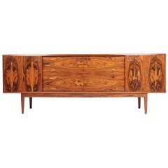 Danish Midcentury Sideboard in Rosewood Designed by Christian Linneberg, 1960s