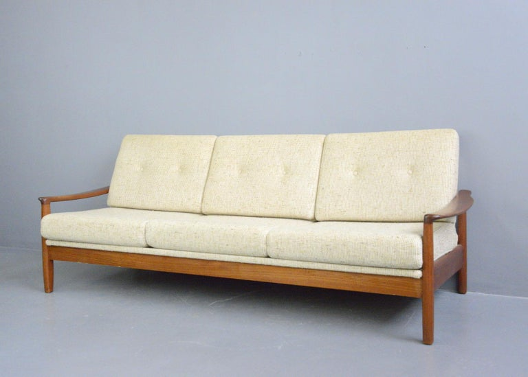 Mid-20th Century Danish Midcentury Sofa, circa 1960s For Sale