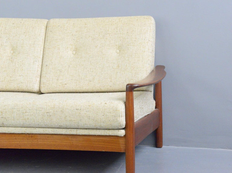 Teak Danish Midcentury Sofa, circa 1960s For Sale