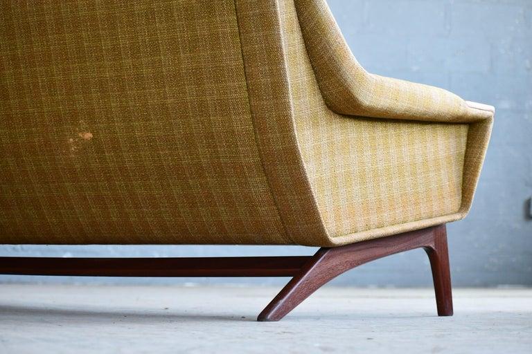 Danish Midcentury Sofa in Wool and Teak by Erhardsen and Erlandsen for Eran For Sale 5