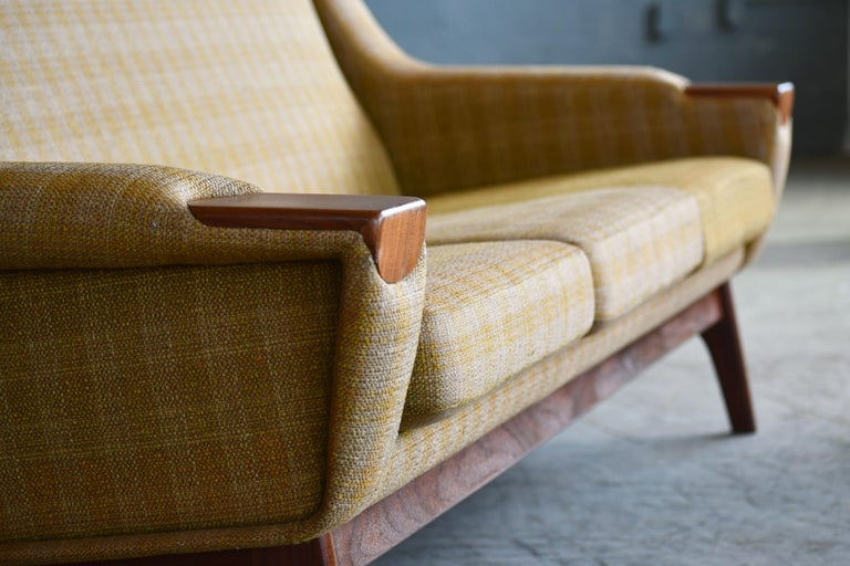 Mid-20th Century Danish Midcentury Sofa in Wool and Teak by Erhardsen and Erlandsen for Eran For Sale