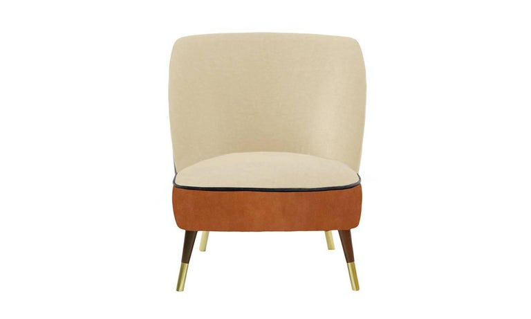 Mid-Century Modern Danish Midcentury Style Leather Accent Chair Oslo For Sale