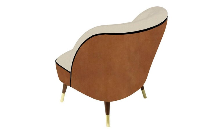 European Danish Midcentury Style Leather Accent Chair Oslo For Sale