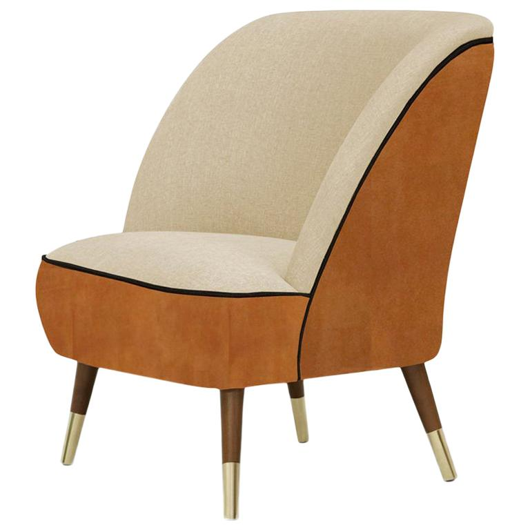 Danish Midcentury Style Leather Accent Chair Oslo For Sale