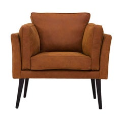 Danish Midcentury Style Leather Chair Coyoacan