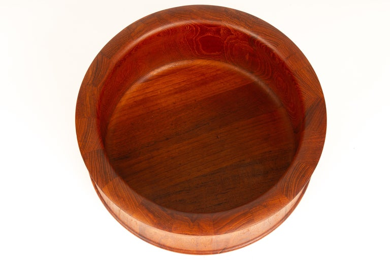 Danish midcentury teak bowl by Nissen, 1960s.