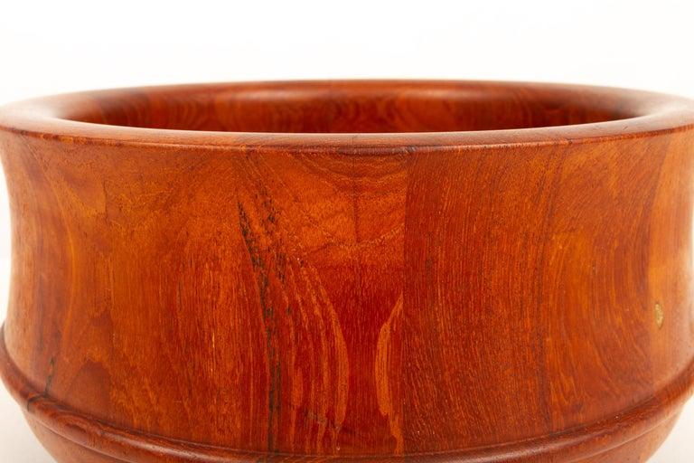 Scandinavian Modern Danish Midcentury Teak Bowl by Nissen, 1960s For Sale