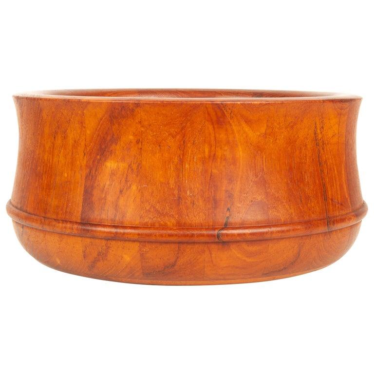 Danish Midcentury Teak Bowl by Nissen, 1960s For Sale