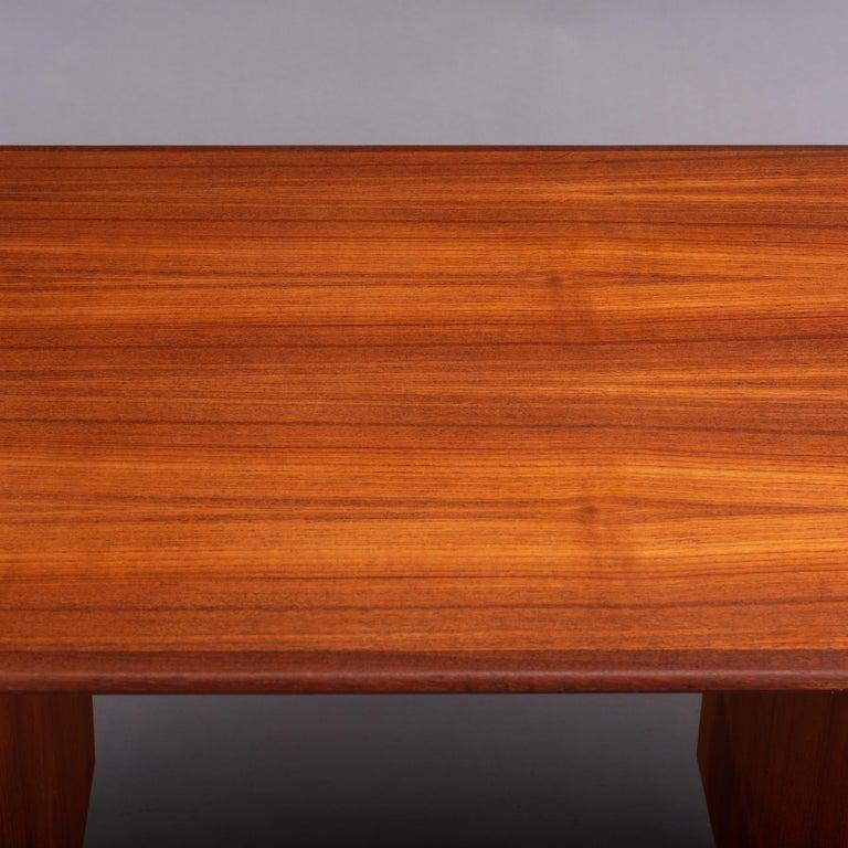 Danish Midcentury Teak Freestanding Desk, 1960s For Sale 5