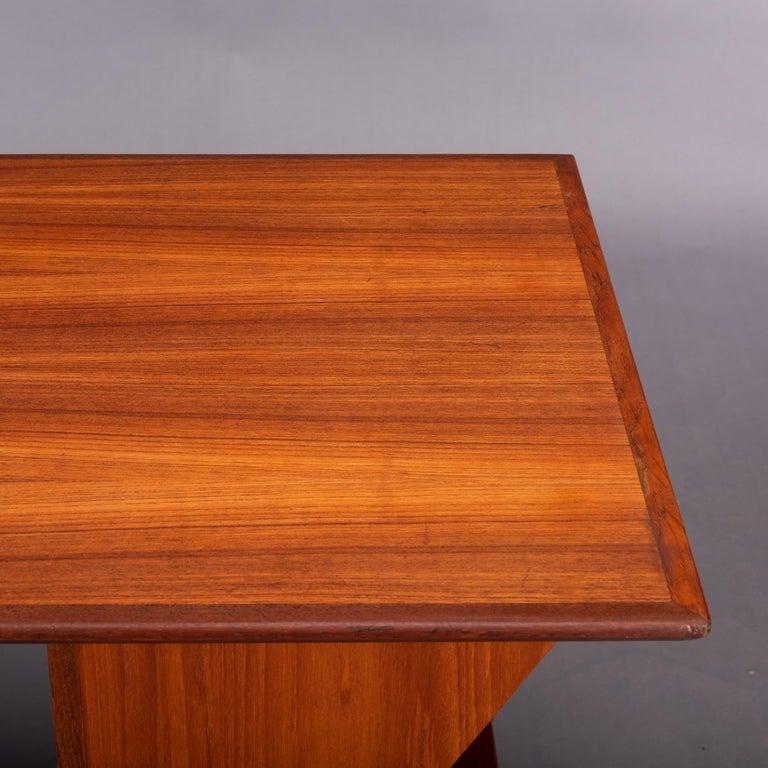 Danish Midcentury Teak Freestanding Desk, 1960s For Sale 6