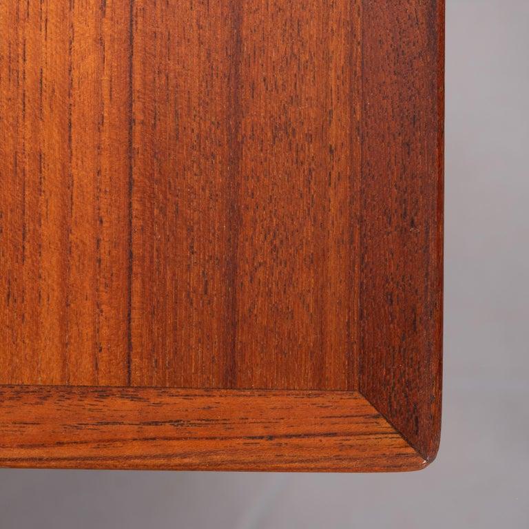 Danish Midcentury Teak Freestanding Desk, 1960s For Sale 7