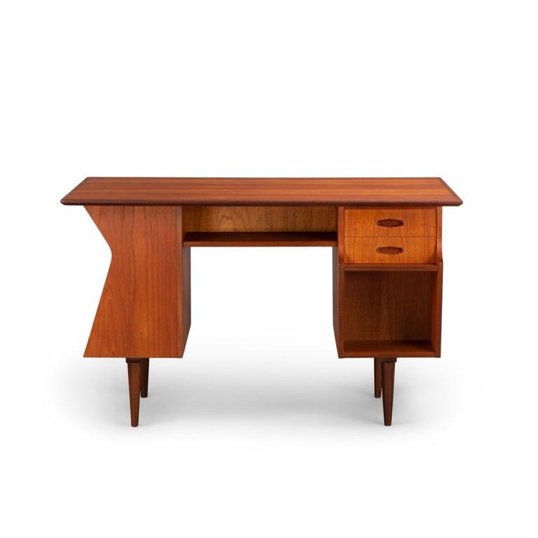 Mid-Century Modern Danish Midcentury Teak Freestanding Desk, 1960s For Sale
