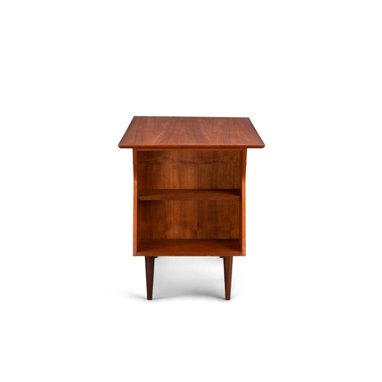 Danish Midcentury Teak Freestanding Desk, 1960s For Sale 1