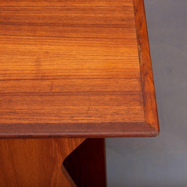Danish Midcentury Teak Freestanding Desk, 1960s For Sale 4