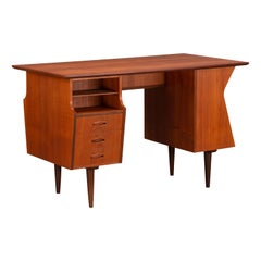 Danish Midcentury Teak Freestanding Desk, 1960s