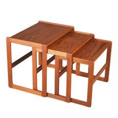Danish Midcentury Teak Nest of Tables Arne Hovmand-Olsen for Mogens Kold c.1960