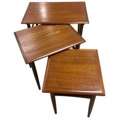 Danish Midcentury Teak Nesting Tables by Poul Hundevad, circa 1960s