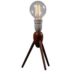 Danish Midcentury Three-Legged Teak Table Lamp