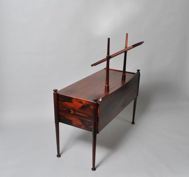 Danish Midcentury Dressing Table and Matching Bench Stool For Sale 3