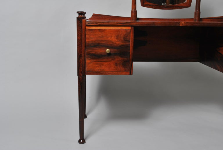 20th Century Danish Midcentury Dressing Table and Matching Bench Stool For Sale
