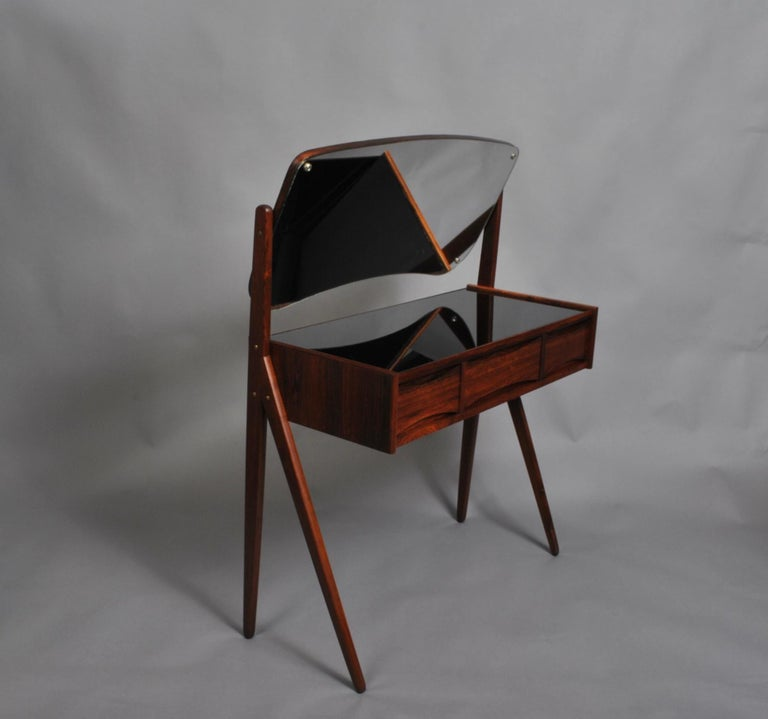 Glass Danish Midcentury Vanity Unit by Arne Vodder