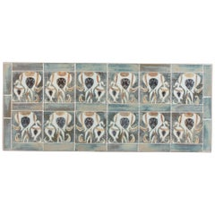 Danish Midcentury Wall Decoration with Tiles by Royal Copenhagen, 1960s