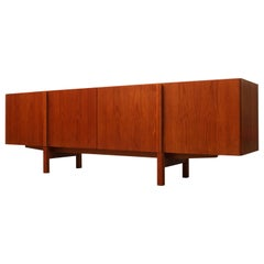 Danish Minimalist Sideboard or Credenza in Teak by IB Kofod-Larsen for Faarup