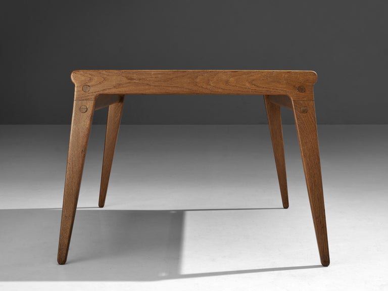 Danish Minimalistic Coffee Table in Oak and Maple For Sale 2