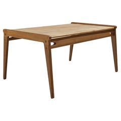 Danish Minimalistic Coffee Table in Oak and Maple