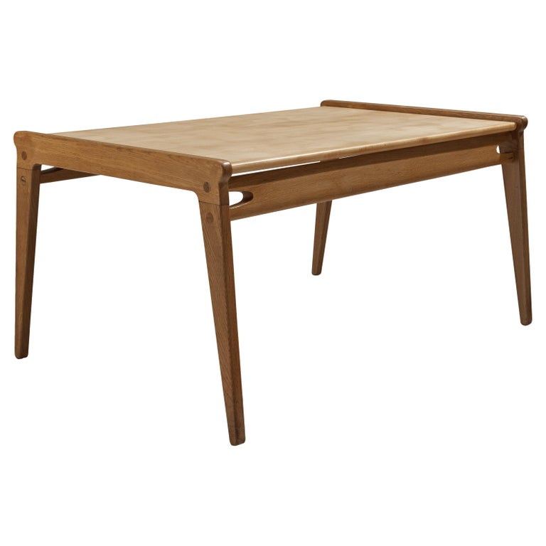 Danish Minimalistic Coffee Table in Oak and Maple For Sale