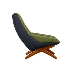 Danish ML-91 Reupholstered Lounge Chair by Illum Wikkelsø, 1960s