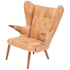 "Danish Model 91 ""Papa Bear"" Lounge Chair by Svend Skipper, Newly Upholstered"