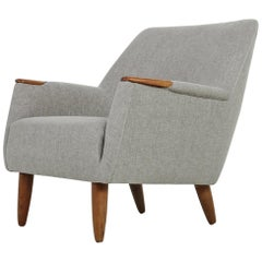 Danish Modern 1960s Lounge Chair, Armchair Attributed to Kurt Ostervig